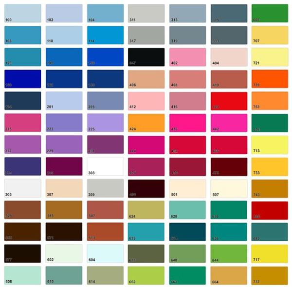 Цветовая гамма сатиновых потолков