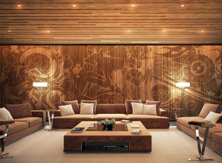 Дизайн интерьера цокольного этажа