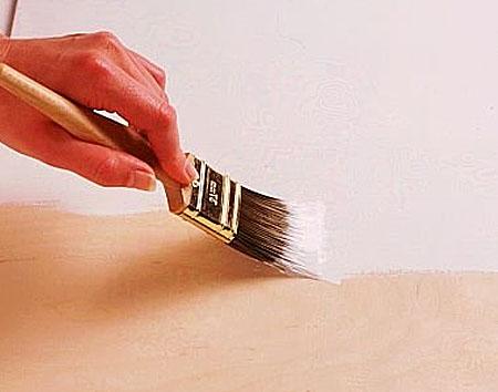 Как красить кистью