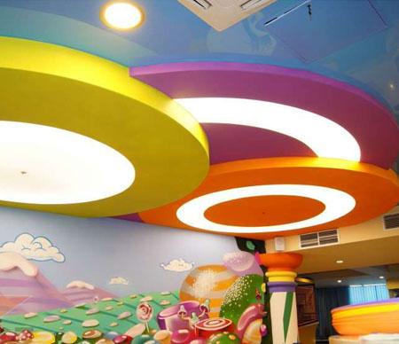 Комбинирование натяжных и гипсокартонных потолков