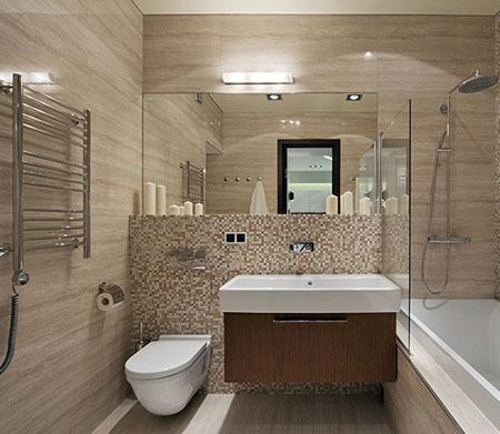 Комбинированная отделка плитка в туалете