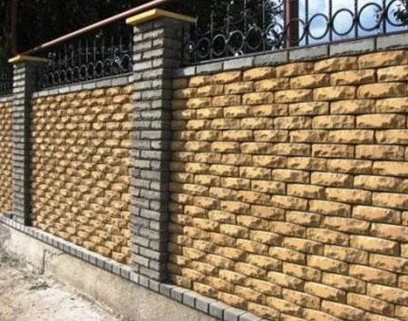 Ландшафтный дизайн - кирпичный забор