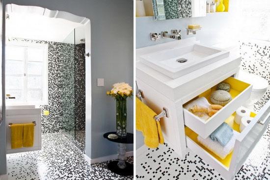 Мозаичная плитка для туалета