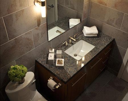 Плитка керамогранит в туалете