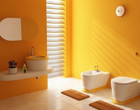 Покраска стен фактурной краской в туалете