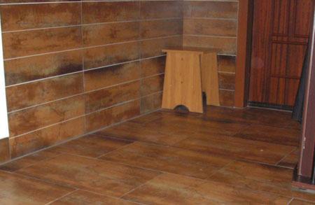 Полы из плитки в бане