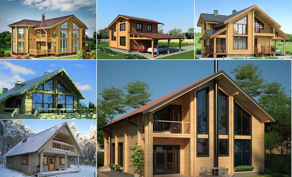 Проекты домов из клееного бруса - слайд №1