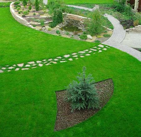 Синтетический газон в ландшафтном дизайне
