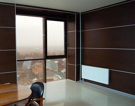 Внутренняя отделка деревянными панелями МДФ
