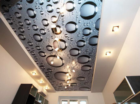 Печать на потолке экосольвентными красками