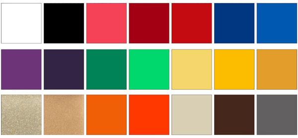 Распространенные цвета плитки