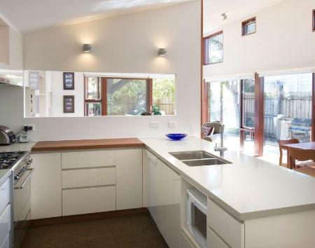 Зеркальное оформление на кухне